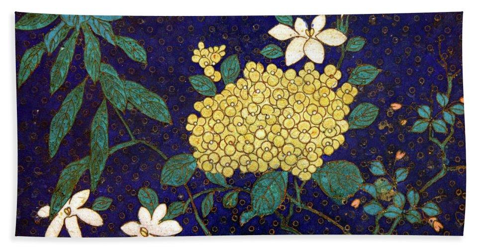 Cloisonee' Beach Towel featuring the photograph Cloisonee' Flower by Dean Triolo