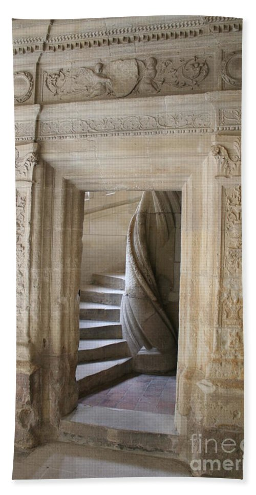 Cloister Beach Towel featuring the photograph Cloister Stairway by Christiane Schulze Art And Photography