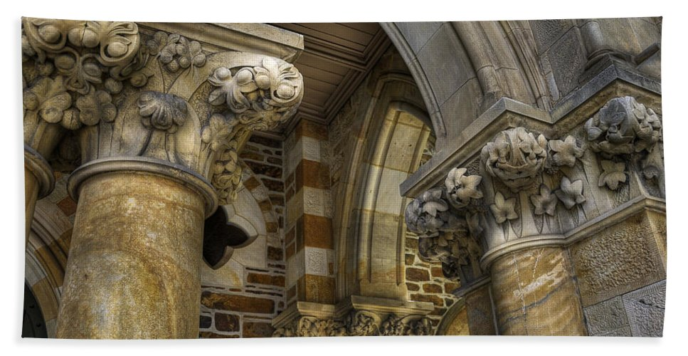 Church Beach Towel featuring the photograph Cloisters by Wayne Sherriff