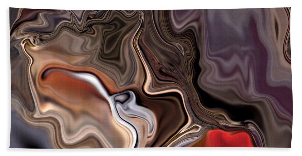 Abstract Beach Towel featuring the digital art Closer by Rabi Khan