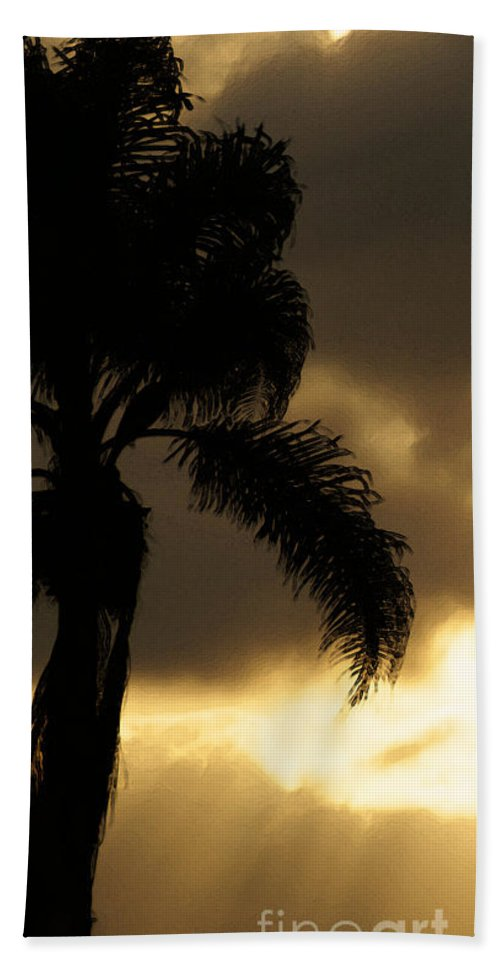 Palm Beach Towel featuring the photograph Cloud Break by Linda Shafer