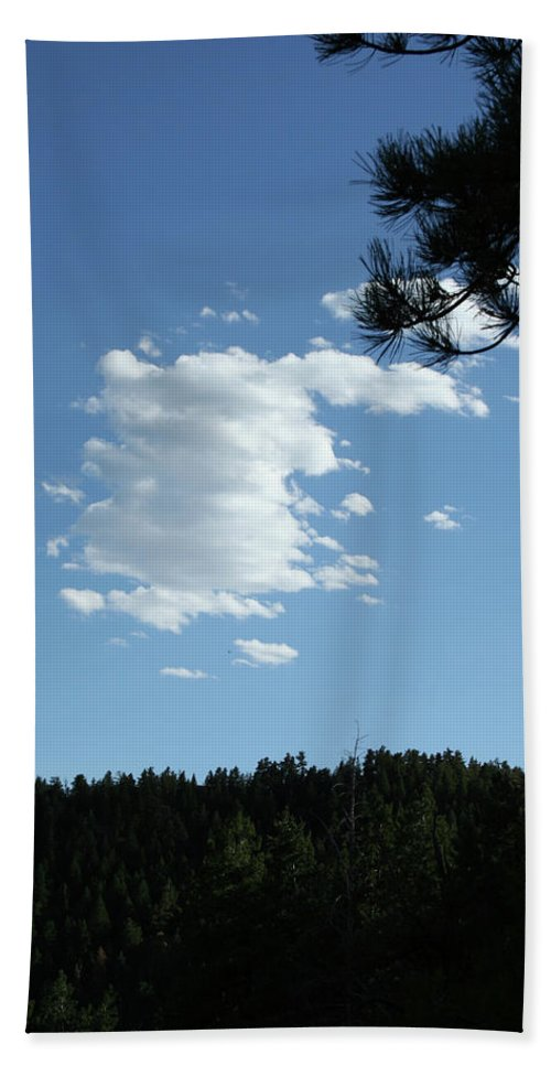 Cloud Beach Towel featuring the photograph Cloud Busting by Ric Bascobert