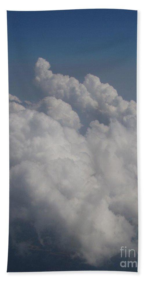 Clouds Beach Towel featuring the photograph Cloud Depth II by Deborah Crew-Johnson