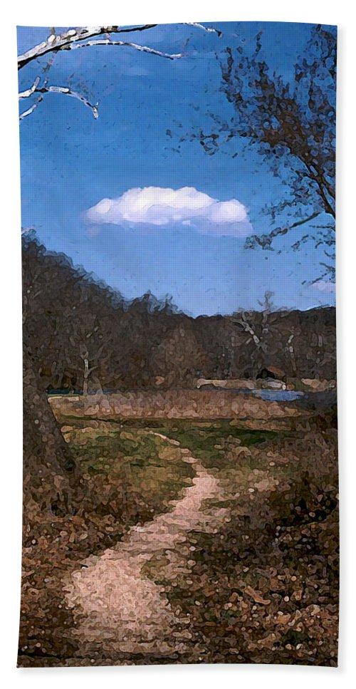 Landscape Beach Towel featuring the photograph Cloud Destination by Steve Karol