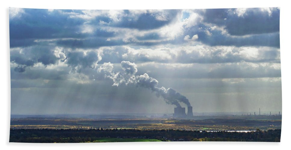 Cloud Beach Towel featuring the photograph Cloud Factory by Kyle Goetsch