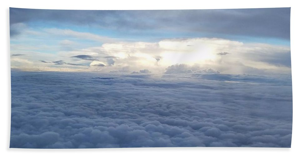 Clouds Beach Towel featuring the photograph Cloud Landscape by Regina Combs