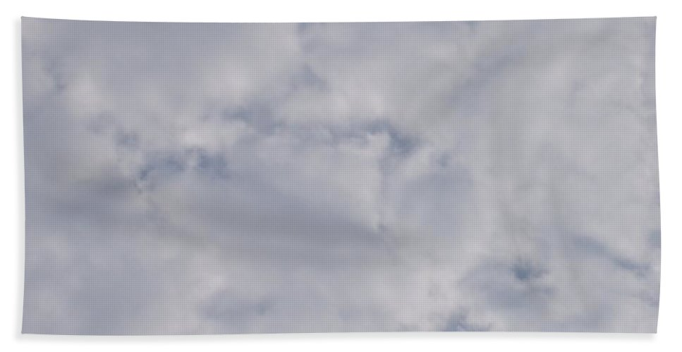Clouds Beach Towel featuring the photograph Cloud Mass - Fist Holding Arrowhead - Look Closely by Deborah Crew-Johnson