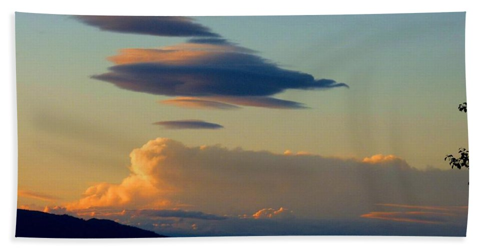 Sky Beach Towel featuring the photograph Cloud Nine 9 by Will Borden