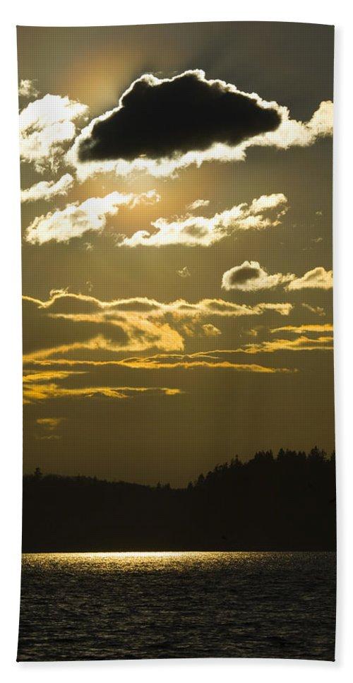 Landscape Beach Towel featuring the photograph Cloud Shadows by Karen Ulvestad