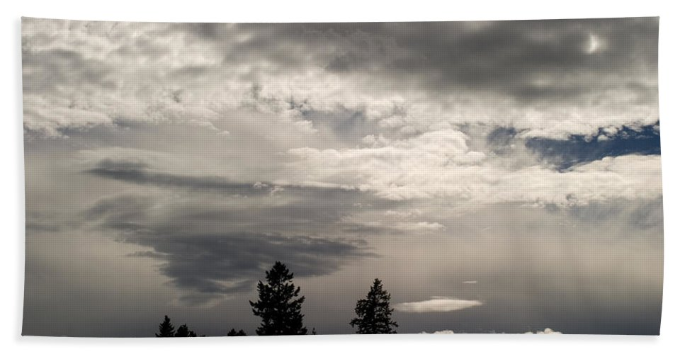 Landscape Beach Towel featuring the photograph Cloud Study 1 by Lee Santa