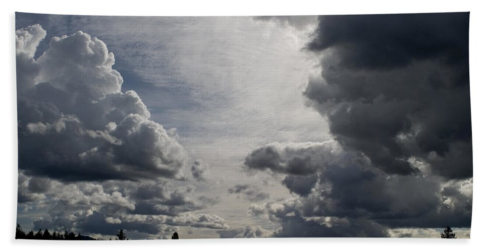 Landscape Beach Towel featuring the photograph Cloud Study 2 by Lee Santa