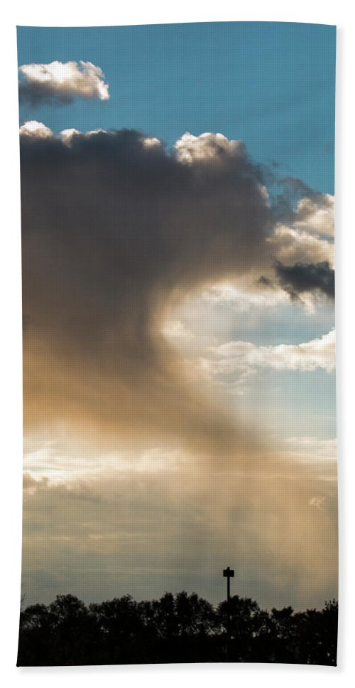 Cloud Beach Towel featuring the photograph Cloud Tail by Brian Kenney