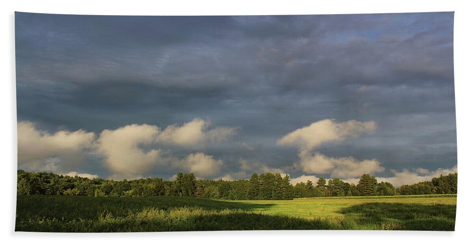 Clouds Beach Towel featuring the photograph Cloudline by Jerry LoFaro
