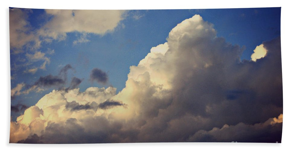 Clouds Beach Towel featuring the photograph Clouds-3 by Paulette B Wright