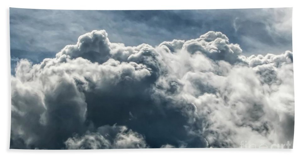 Clouds 3 Beach Towel featuring the photograph Clouds 3 by Rose Santuci-Sofranko