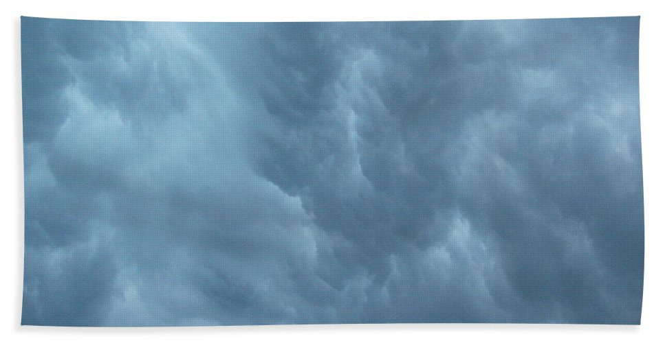 Clouds Beach Towel featuring the photograph Clouds Like The Sea by Deborah Crew-Johnson