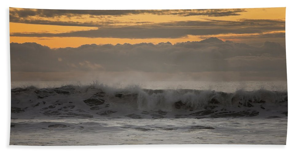 Ocean Beach Towel featuring the photograph Clouds Mimicking Waves by Sharon Foelz