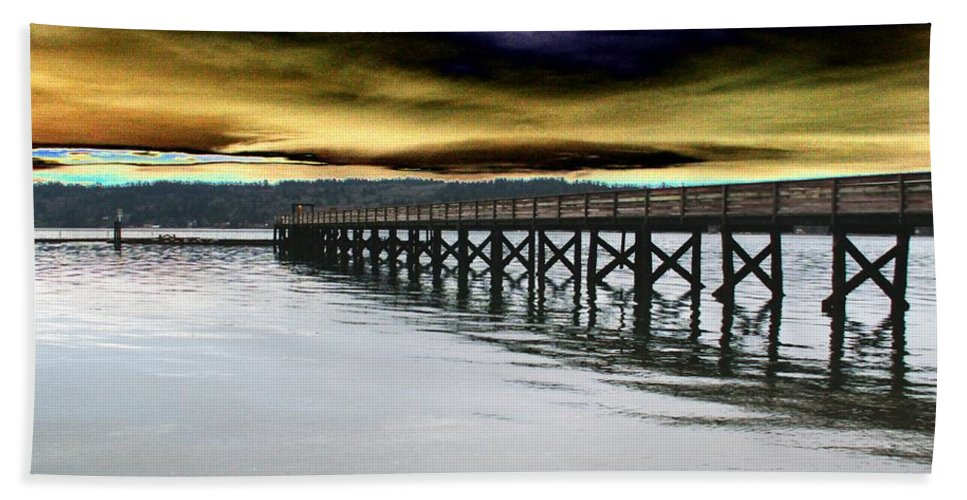 Clouds Beach Towel featuring the photograph Clouds Over Illahee by Tim Allen