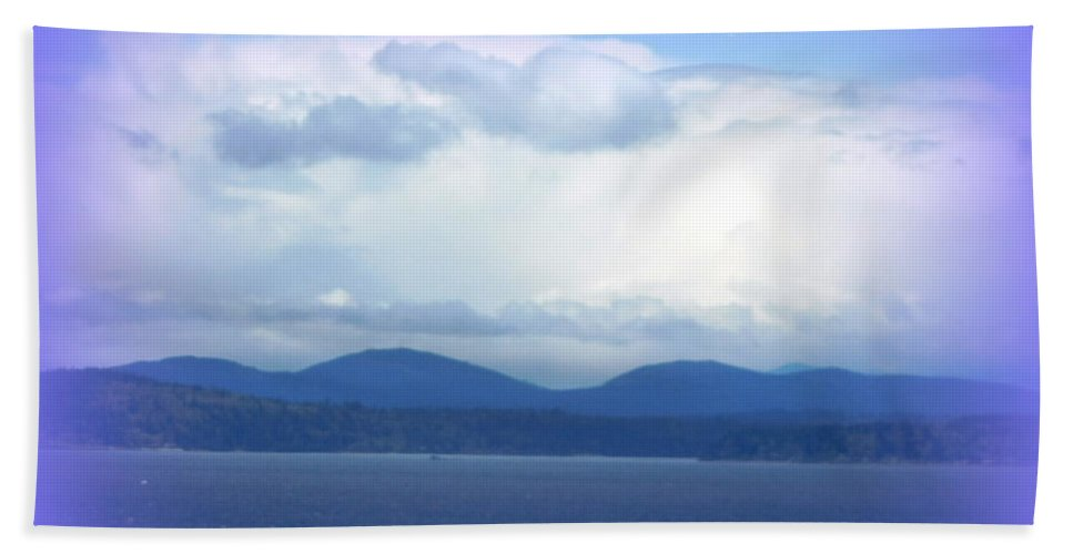 Clouds Beach Towel featuring the photograph Clouds Puget Sound by Maro Kentros