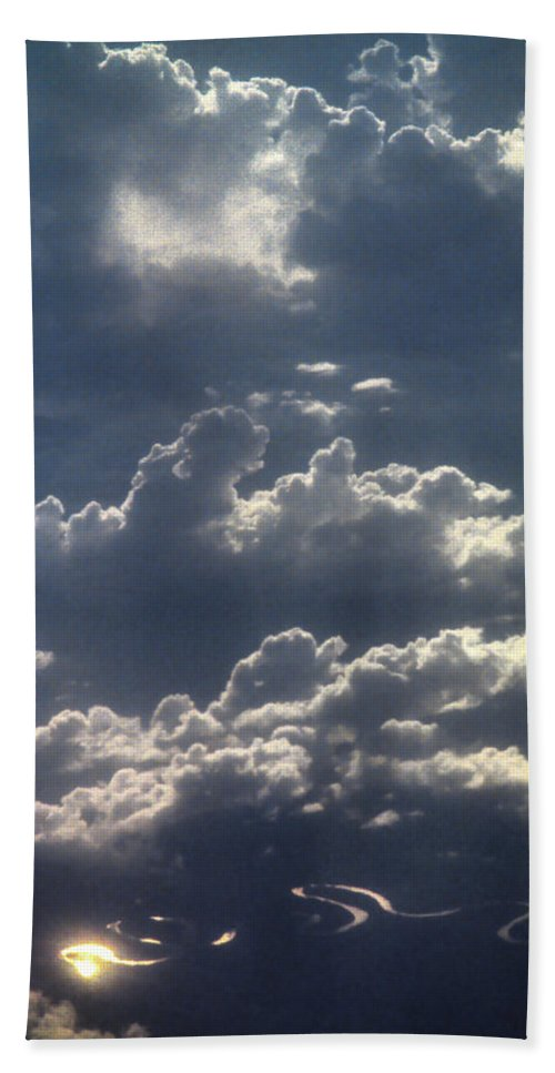 Australia Beach Towel featuring the photograph Cloudscape And River by David Halperin