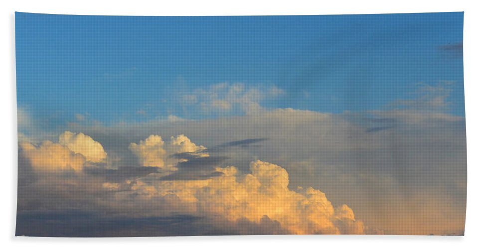 Cloud Beach Towel featuring the photograph Cloudscape by Mikael Sandblom