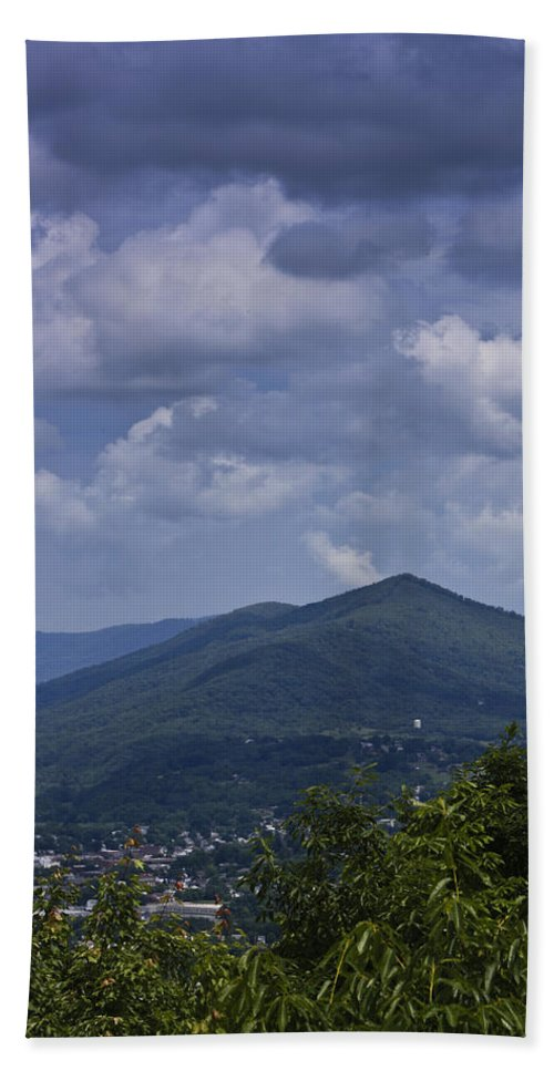 Roanoke Beach Towel featuring the photograph Cloudy Day In Virginia by Teresa Mucha