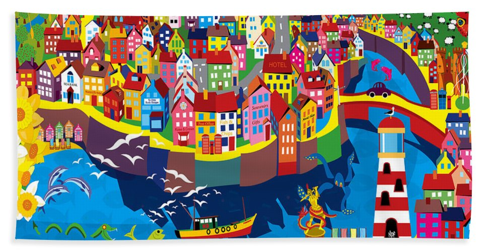Summer Beach Towel featuring the painting Coastal by Neil Finnemore