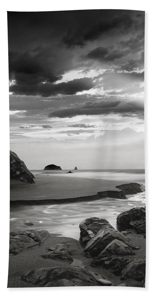 Oregon Beach Towel featuring the photograph Coastal Waters by Leland D Howard
