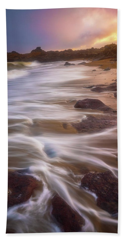 Oregon Beach Towel featuring the photograph Coastal Whispers by Darren White