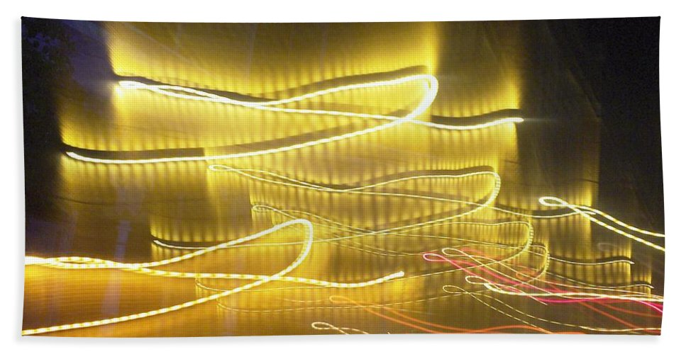 Photograph Beach Towel featuring the photograph Coaster Of Lights Two by Thomas Valentine