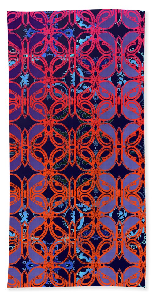 Hot Red Beach Towel featuring the digital art Cobalt Crimson by Ceil Diskin