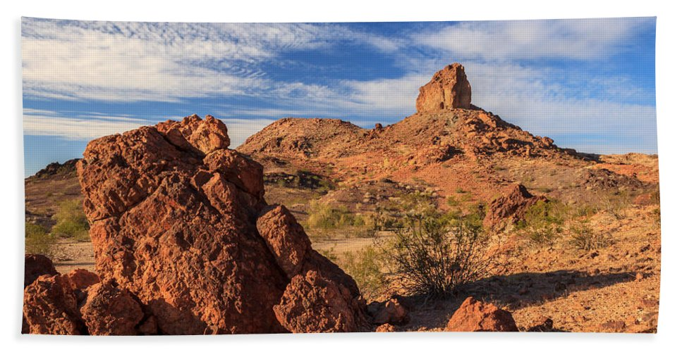 Landscape Beach Towel featuring the photograph Cobra Mountain by James Eddy