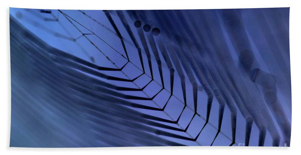 Dewy Beach Towel featuring the photograph Cobweb by Michal Boubin
