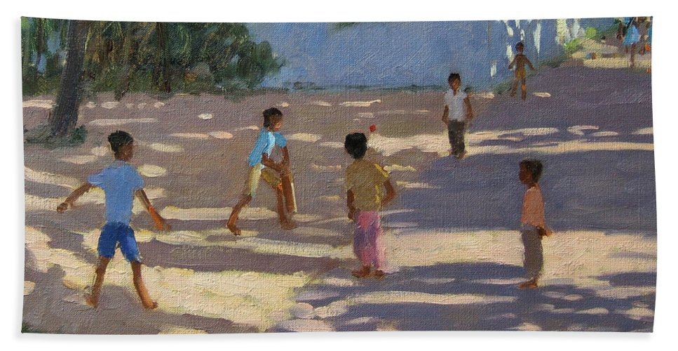 Indian Landscape Beach Towel featuring the painting Cochin by Andrew Macara