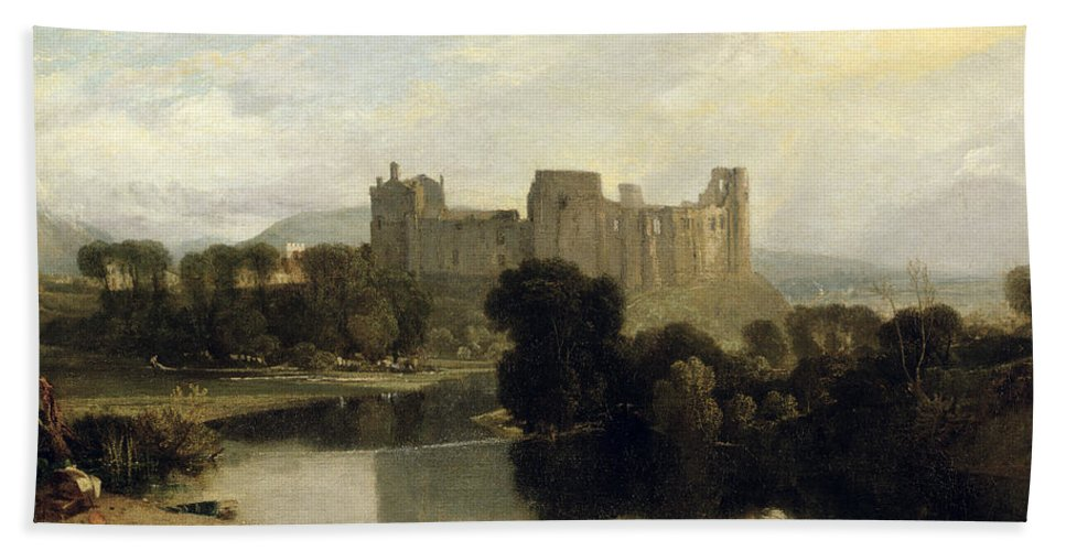 Cockermouth Beach Towel featuring the painting Cockermouth Castle by Joseph Mallord William Turner