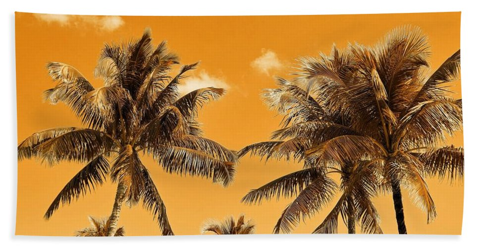 Coconut Trees Beach Towel featuring the photograph Coconut Trees by Richard Sugden