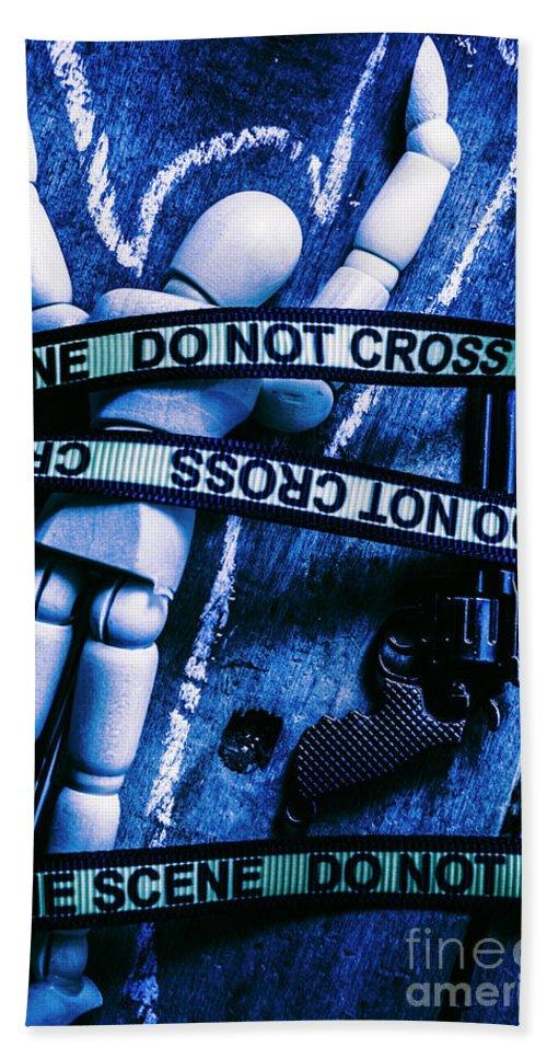 Gun Beach Towel featuring the photograph Code Blue Csi by Jorgo Photography - Wall Art Gallery