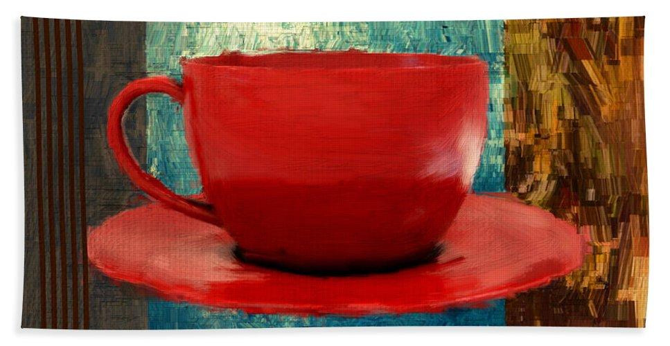 Coffee Beach Towel featuring the digital art Coffee Lover by Lourry Legarde