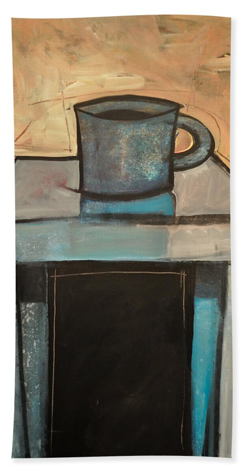 Coffee Beach Towel featuring the painting Coffee Table by Tim Nyberg