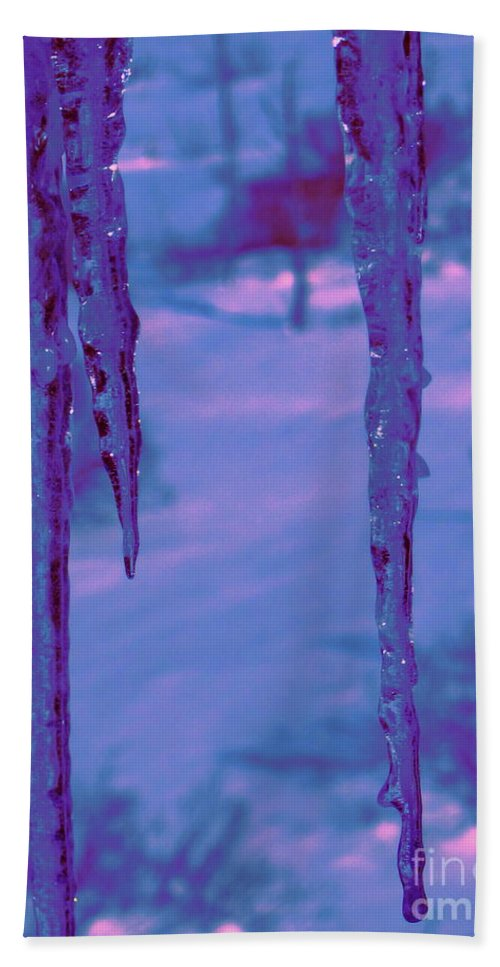 Water Beach Towel featuring the photograph Cold Night Falling by Sybil Staples