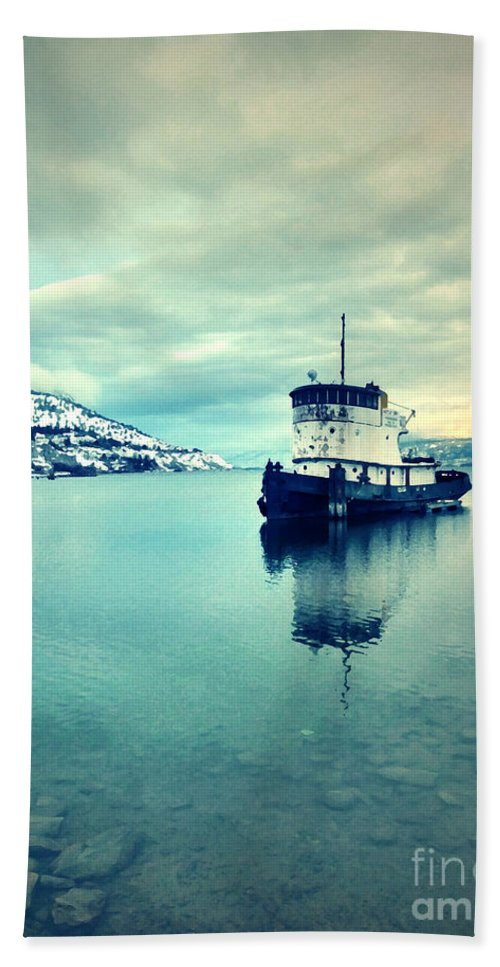 Boat Beach Towel featuring the photograph Cold Reflections by Tara Turner