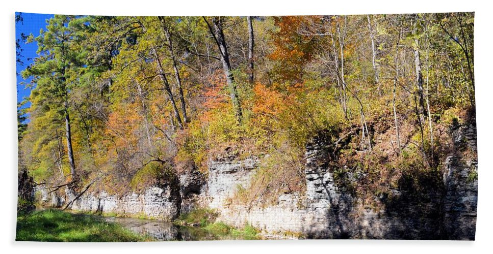 Bluff Beach Towel featuring the photograph Coldwater Bluffs by Bonfire Photography