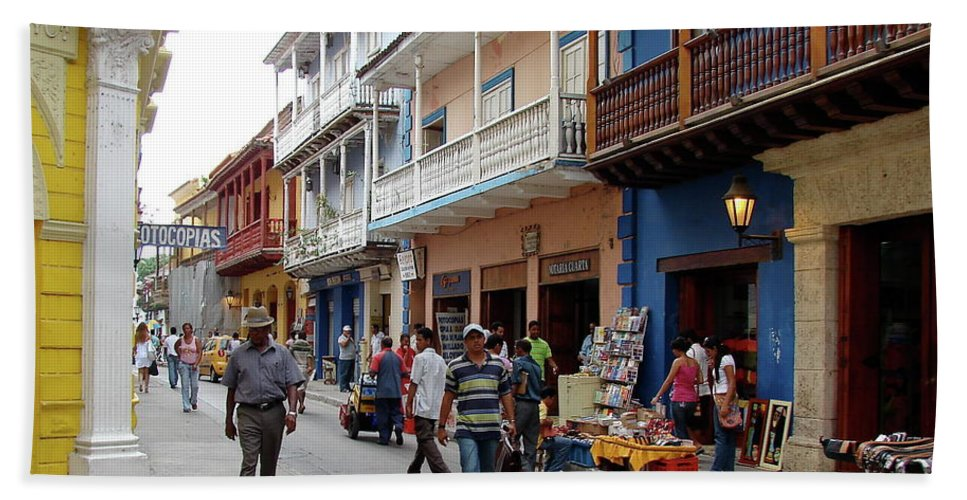 Colombia Beach Towel featuring the photograph Colombia Streets by Brett Winn