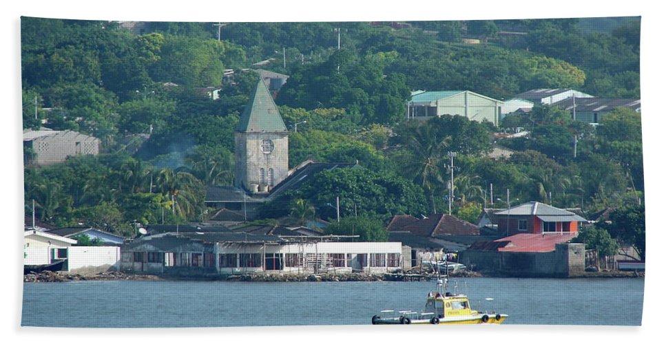 Church Beach Towel featuring the photograph Colombian Seaside Church by Brett Winn