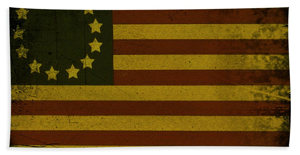 Colonial Beach Towel featuring the photograph Colonial Flag by Bill Cannon