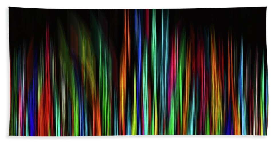 Colorful Beach Towel featuring the digital art Color Abstract 3.31 by L Bee