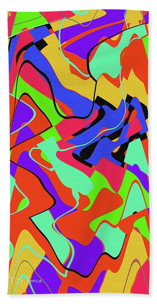 Color Drawing Abstract #3 Beach Towel featuring the digital art Color Drawing Abstract #3 by Tom Janca