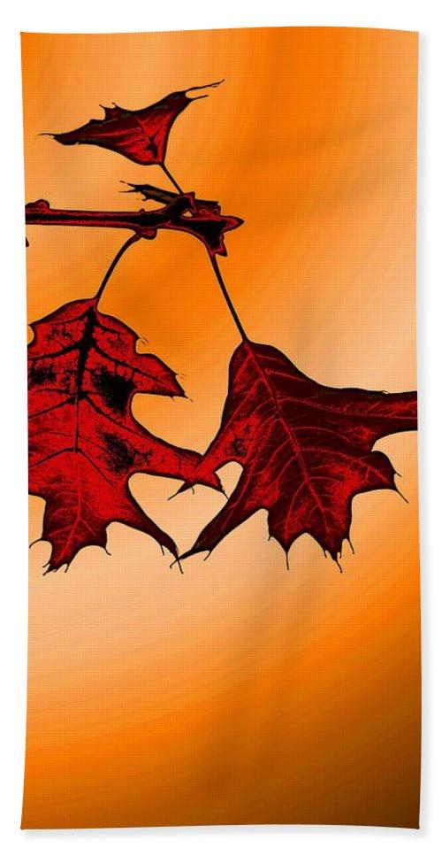 Autumn Beach Towel featuring the digital art Color Me Autumn 3 by Tim Allen