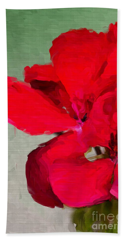 Flower Beach Towel featuring the photograph Color Me Red by Betty LaRue