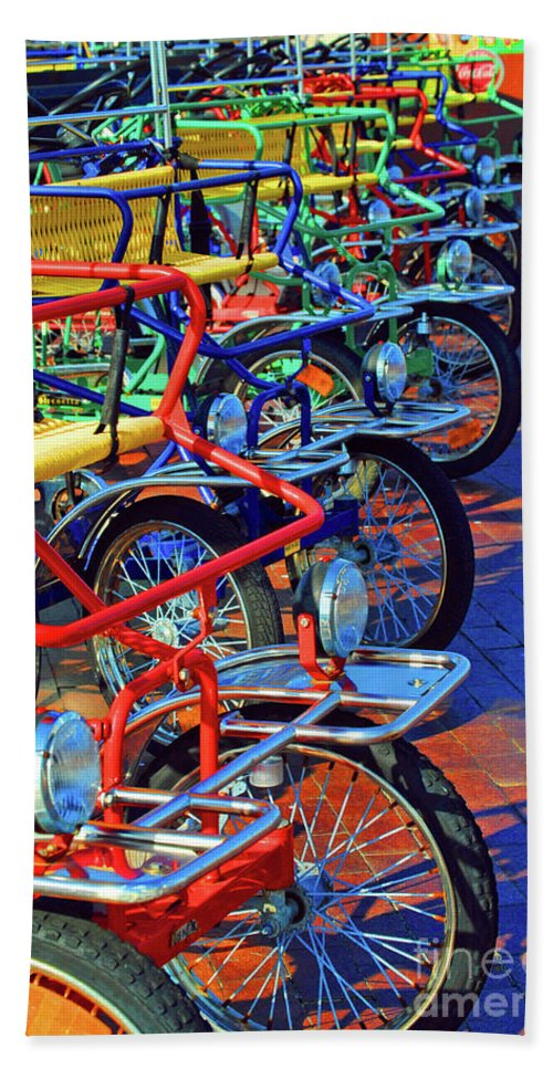 Bikes Beach Towel featuring the photograph Color Of Bikes by Jost Houk